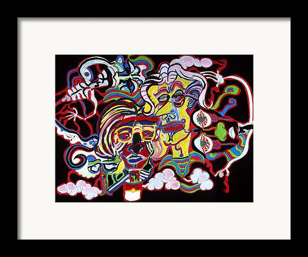 Abstract Framed Print featuring the print The Andy Warhol And Salvador Dali Museum by William Watson