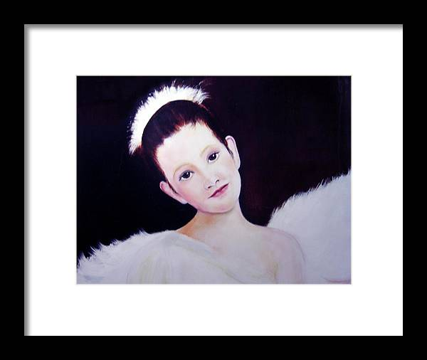 Angel Framed Print featuring the painting The Angel by Michela Akers