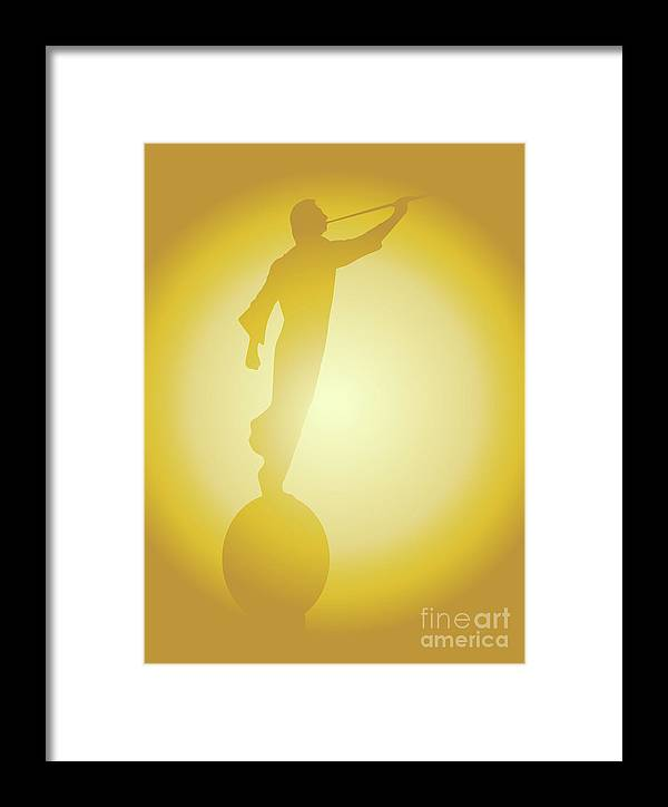 Latter Day Saints Framed Print featuring the digital art The Angel Moroni by Bigalbaloo Stock
