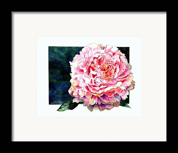 Peony Framed Print featuring the painting The Ant's Castle by Linda Marie Carroll