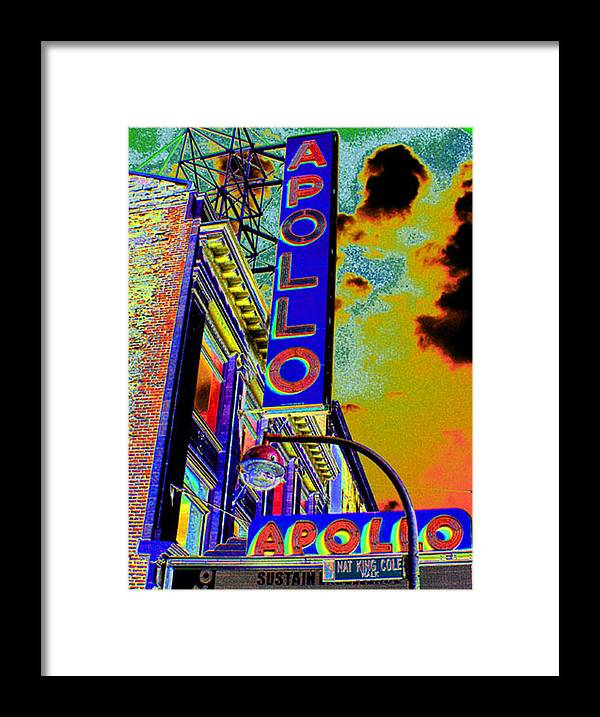 Harlem Framed Print featuring the photograph The Apollo by Steven Huszar