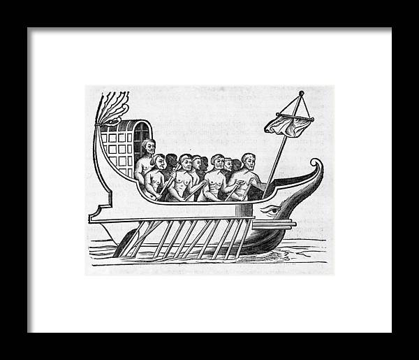 Boat Framed Print featuring the photograph The Argo, 17th Century Artwork by Middle Temple Library