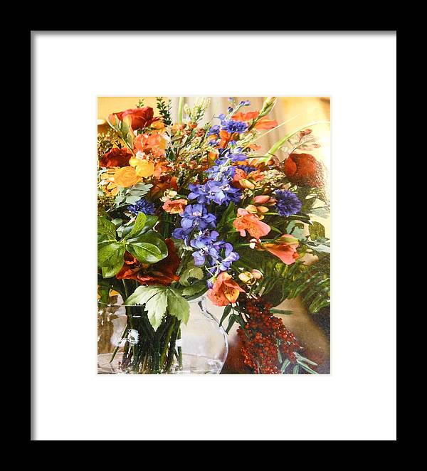 Flowers Framed Print featuring the photograph The Arrangement by Lord Frederick Lyle Morris - Disabled Veteran