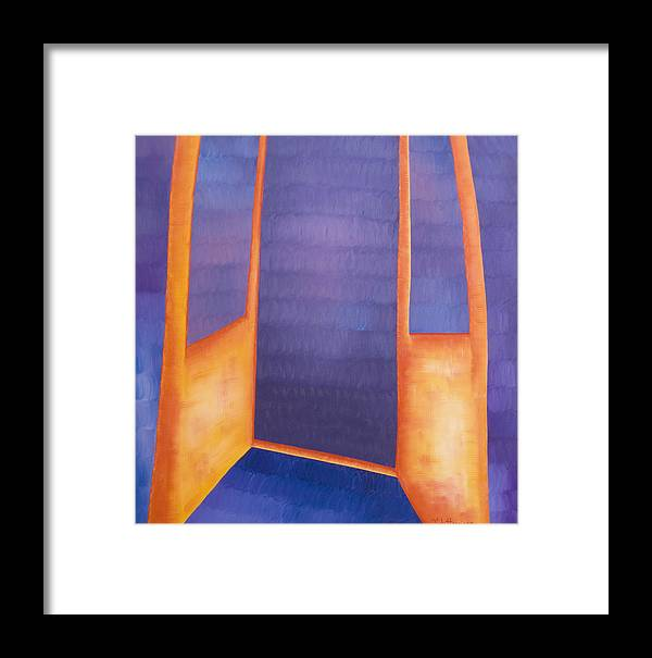 Death Framed Print featuring the painting The Arrival by Judy Henninger