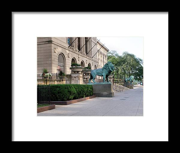 The Art Institute Of Chicago Framed Print featuring the photograph The Art Institute Of Chicago - 3 by Ely Arsha