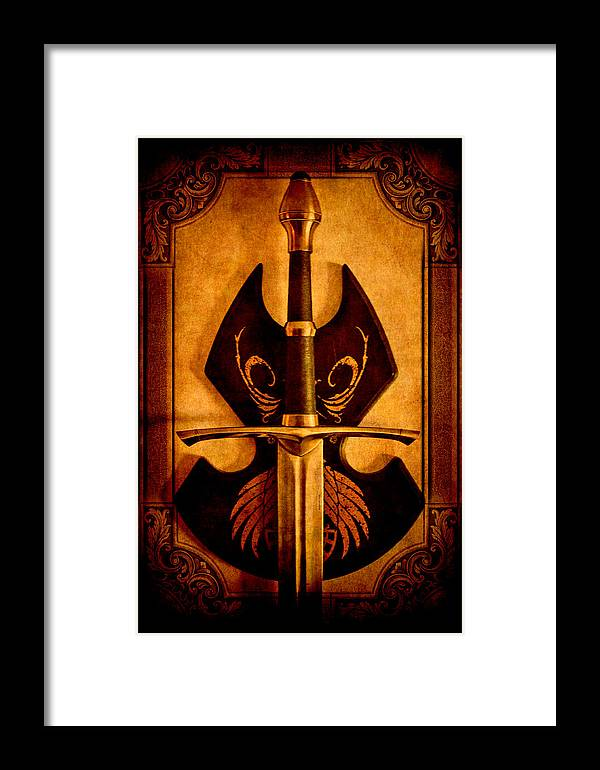 Loriental Framed Print featuring the photograph The Art Of War - Eternal Portrait Of A Warrior by Loriental Photography