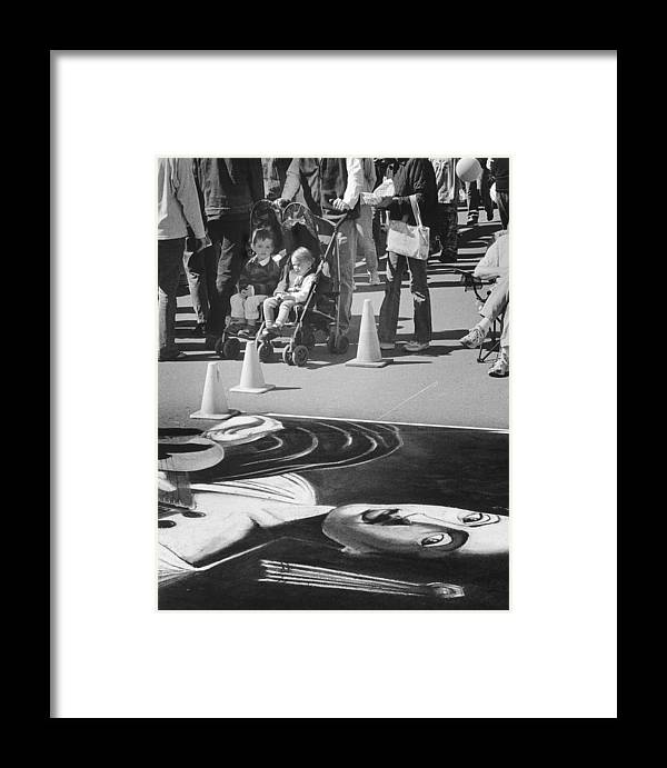 Street Framed Print featuring the photograph The Art Spark by Jim Furrer