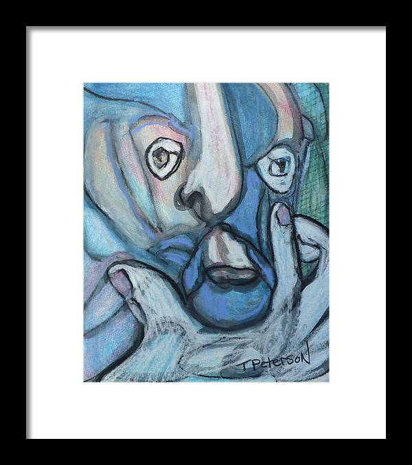 Crayon Framed Print featuring the painting the Artist at Work by Todd Peterson