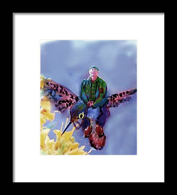 Framed Print featuring the digital art The Artist Can Do Anything by Dave Kwinter