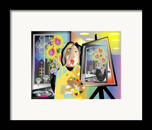 Contemporary Framed Print featuring the digital art The Artist by George Pasini