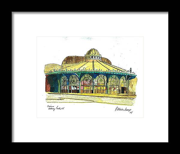 Asbury Art Framed Print featuring the painting The Asbury Park Casino by Patricia Arroyo