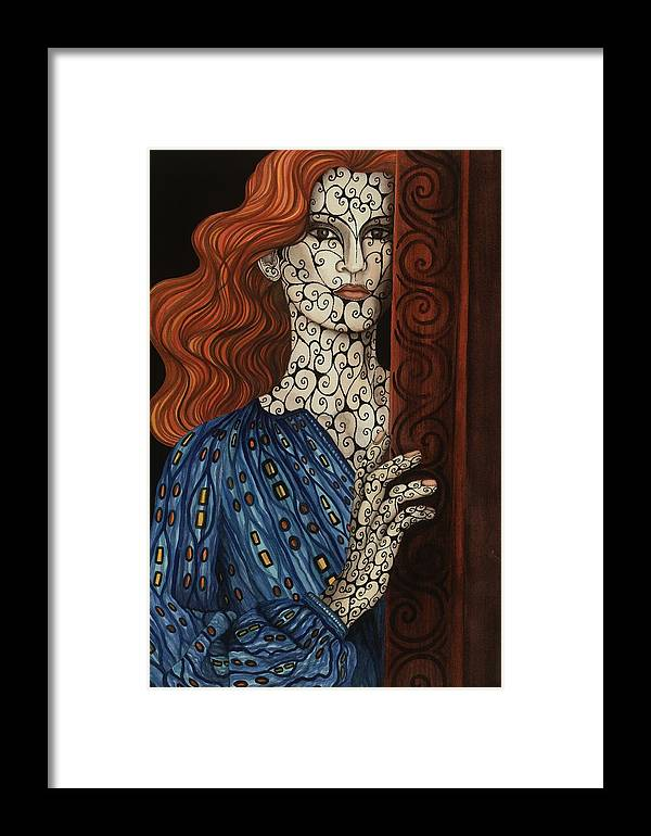 Framed Print featuring the painting The Assessment by Tina Blondell