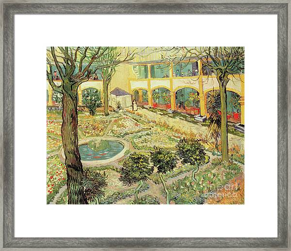 Vincent Van Gogh Framed Print Featuring The Painting The Asylum Garden At  Arles By Vincent Van