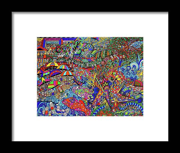 Beach Art Framed Print featuring the painting The Australia Way by Karen Elzinga