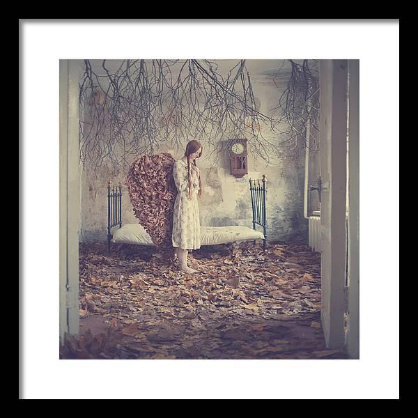 Framed Print featuring the photograph The Autumn Angel by Anka Zhuravleva