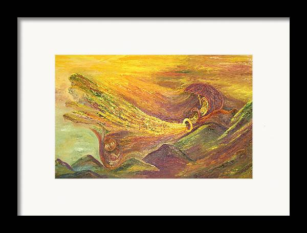 Autumn Framed Print featuring the painting The Autumn Music Wind by Karina Ishkhanova