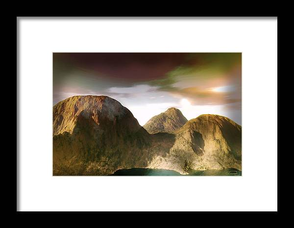 Landscape Framed Print featuring the painting The Awakening by Emma Alvarez