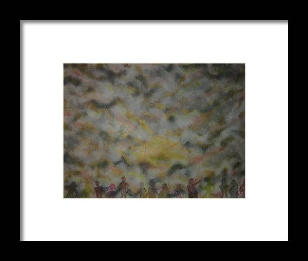 Worship Framed Print featuring the painting The Awakening by Laurie Kidd