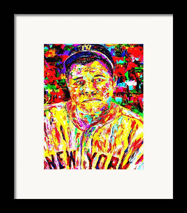 The Babe Framed Print featuring the painting The Babe by Mike OBrien