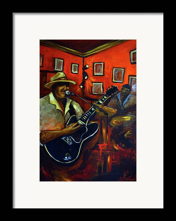 Blues Framed Print featuring the painting The Back Room by Valerie Vescovi