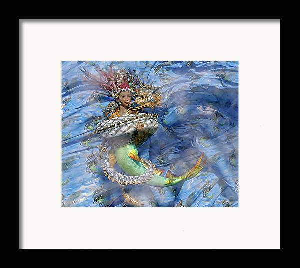 Mermaid Framed Print featuring the digital art The Balance Of Peace And War by Betsy Knapp