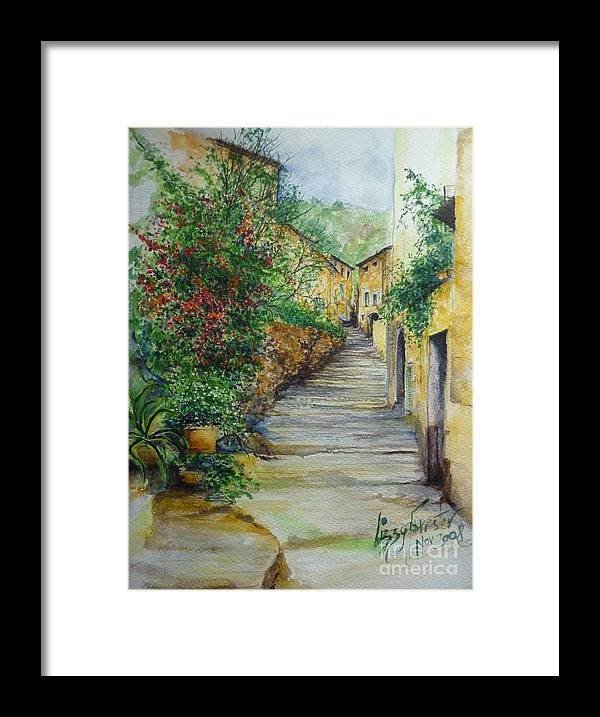 Original Paintings Of Mallorca Framed Print featuring the painting The Balearics Typical Spain by Lizzy Forrester