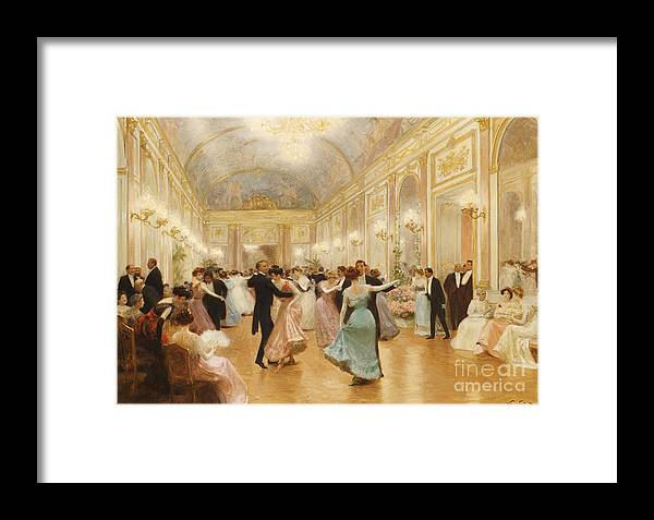 Ball Framed Print featuring the painting The Ball by Victor Gabriel Gilbert