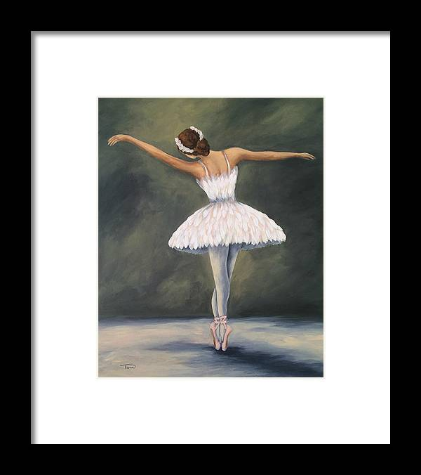 Ballet Framed Print featuring the painting The Ballerina V by Torrie Smiley