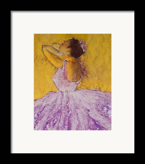 Pastel Framed Print featuring the painting The Ballet Dancer by David Patterson