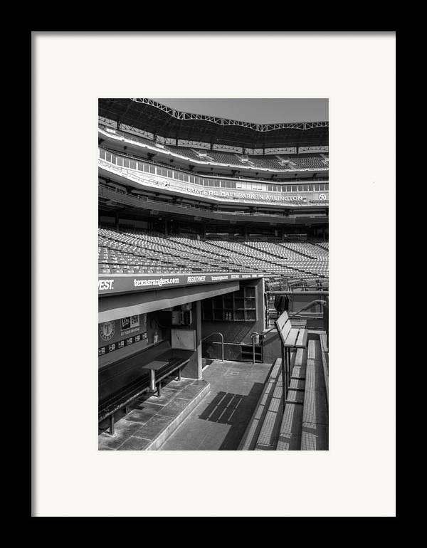 America Framed Print featuring the photograph The Ballpark In Arlington by Ricky Barnard