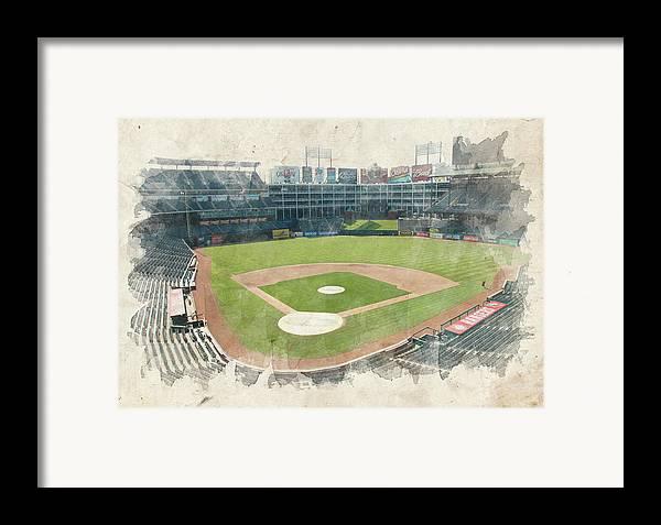 Texas Framed Print featuring the photograph The Ballpark by Ricky Barnard