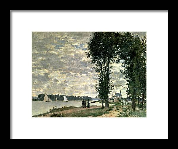 French Framed Print featuring the painting The Banks Of The Seine At Argenteuil by Claude Monet