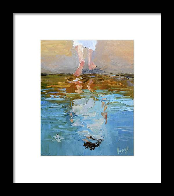 Baptism Framed Print featuring the painting The Baptism of Jesus by Mike Moyers