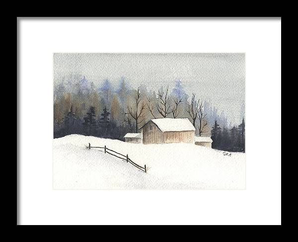 Barn Framed Print featuring the painting The Barn by Jan Anderson