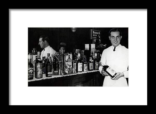 Prohibition Framed Print featuring the photograph The Bartender Is Back - Prohibition Ends Dec 1933 by Daniel Hagerman