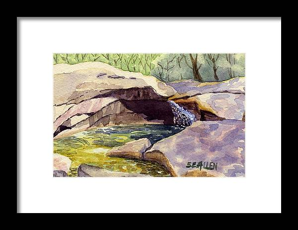 The Basin Framed Print featuring the painting The Basin by Sharon E Allen