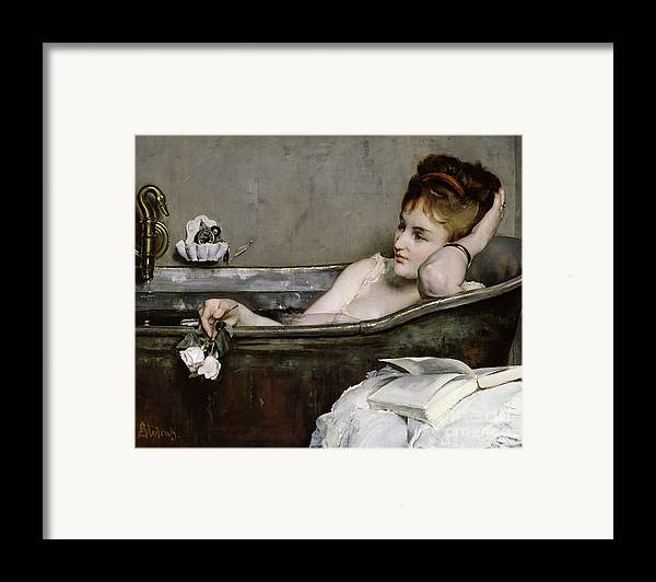 Alfred George Stevens Framed Print featuring the painting The Bath by Alfred George Stevens