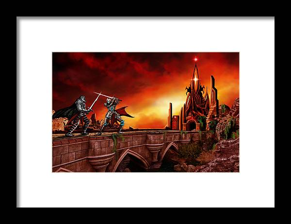 Copyright 2015 - James Christopher Hill Framed Print featuring the painting The Battle for the Crystal Castle by James Christopher Hill