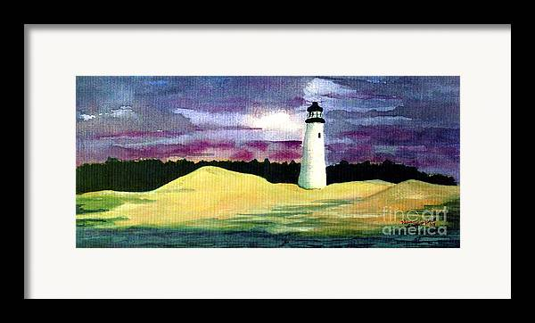 Fine Art Framed Print featuring the painting The Beacon by Patricia Griffin Brett