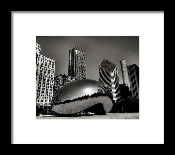 Chicago Architecture Framed Print featuring the photograph The Bean - 4 by Ely Arsha