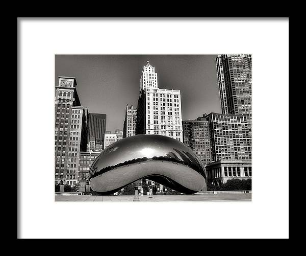 Chicago Architecture Framed Print featuring the photograph The Bean - 3 by Ely Arsha