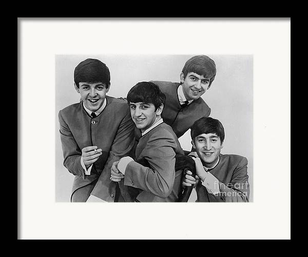 1963 Framed Print featuring the photograph The Beatles, 1963 by Granger
