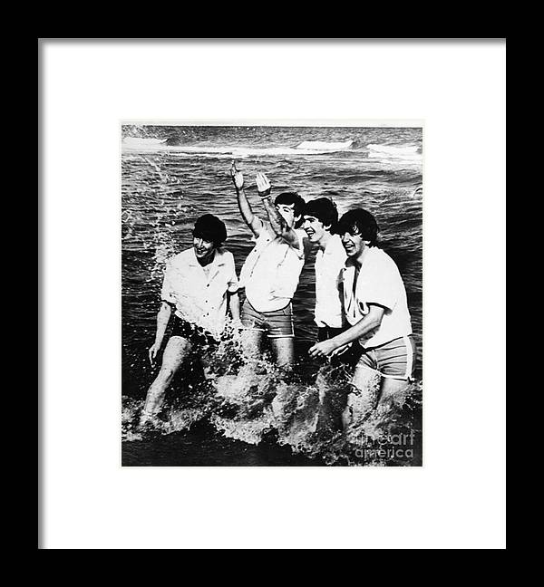 1964 Framed Print featuring the photograph The Beatles, 1964 by Granger