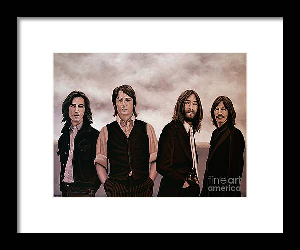The Beatles Framed Print featuring the painting The Beatles 3 by Paul Meijering