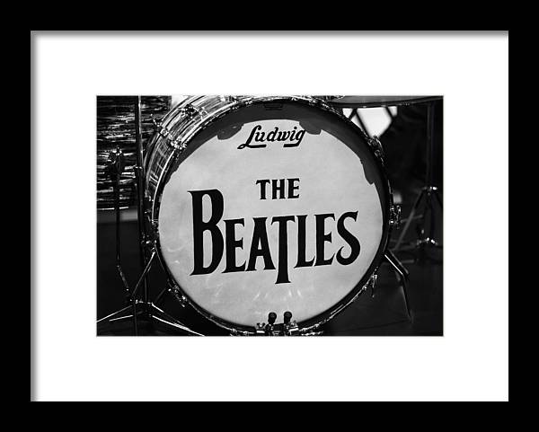 The Beatles Drum Framed Print featuring the photograph The Beatles Drum by Dan Sproul
