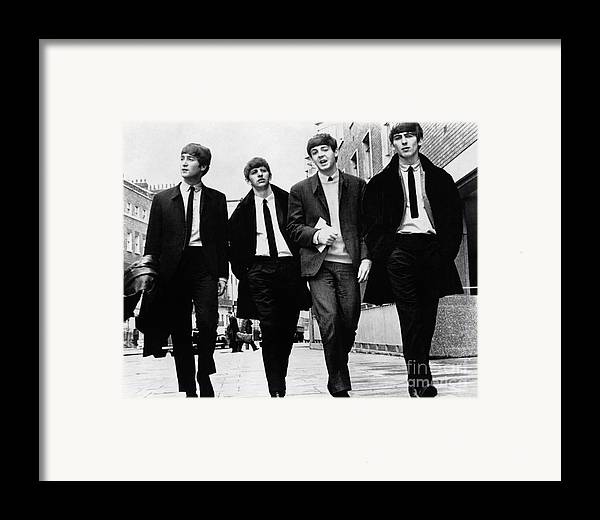 1963 Framed Print featuring the photograph The Beatles by Granger