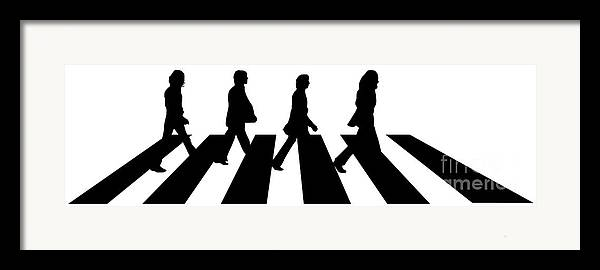 Artwork Framed Print featuring the digital art The Beatles No.02 by Caio Caldas