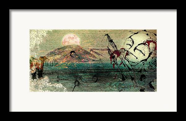 Digital Paintings Framed Print featuring the painting The Beginning by Mark M Mellon