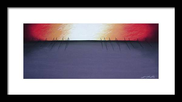Framed Print featuring the pastel The Beginning Of The End II by Chris Mackie