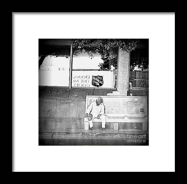 Salvation Army Framed Print featuring the photograph The Bench by Nicky Dou